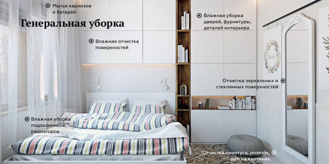 комната генеральная уборка